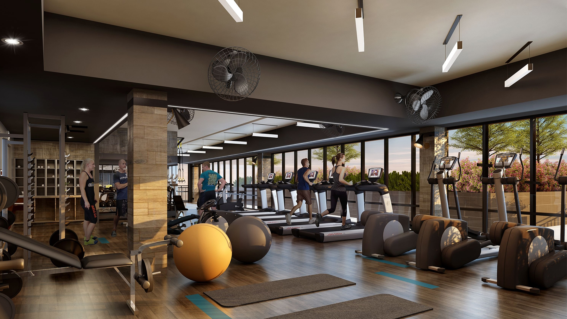 Who wants a quiet fitness room in their condo building?