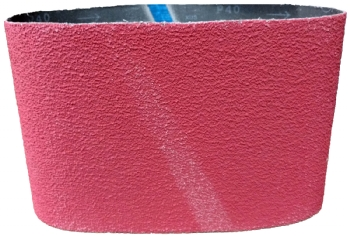Ceramic abrasive belt