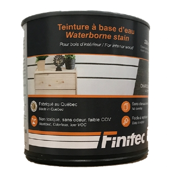 WATER BASED STAIN FOR INTERIOR WOOD FINISHING CHARCOAL 236 ML