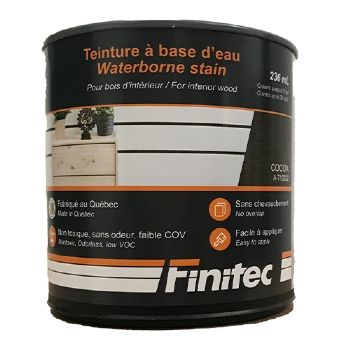 WATER BASED STAIN FOR INTERIOR WOOD FINISHING COCOA 236 ML