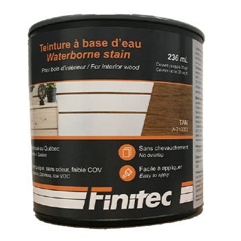 WATER BASED STAIN FOR INTERIOR WOOD FINISHING TAN 236 ML