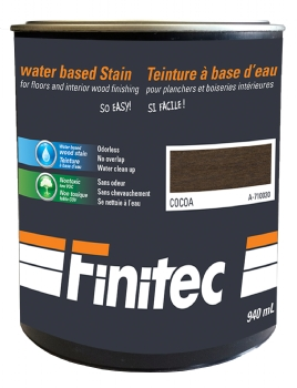 WATER BASED STAIN FOR INTERIOR WOOD FINISHING COCOA 940 ML