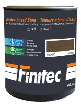 WATER BASED STAIN FOR INTERIOR WOOD FINISHING WALNUT 940 ML