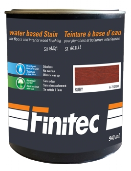 WATER BASED STAIN FOR INTERIOR WOOD FINISHING RUBY 940 ML